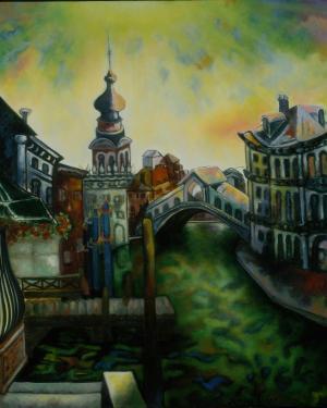 Brigitte Moreau Serre, Venise le Pont du Rialto